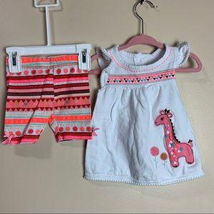 Girls 12 month shorts & top matching set